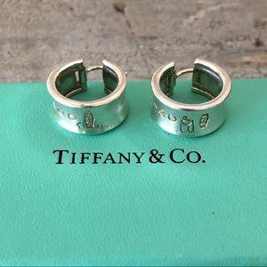 RARE ♥️ Tiffany & Co. ♥️ 1837 Wide Hoop Earrings!